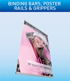 Binding Bars Poster Rails & Grippers