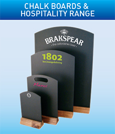 Chalk Boards & Hospitality Range