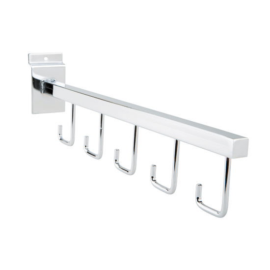 Straight Five Hook Arm Rail