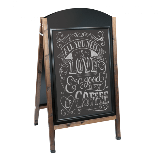 Snap Frame Wooden Pavement Sign