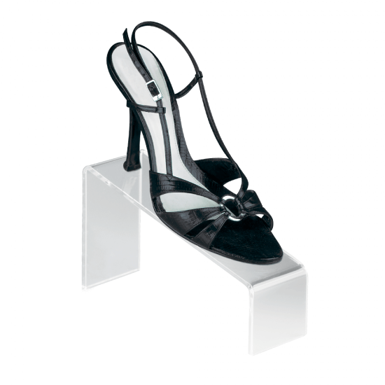 Angled shoe stand for retail displays