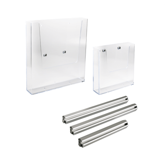 Acrylic Brochure Holder for Display Units in A5 or A4