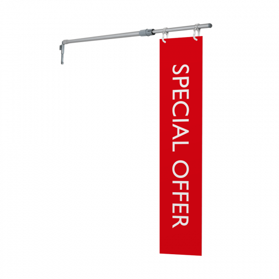 Aisle sign fixing available with optional printed aisle sign