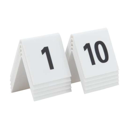 Acrylic table numbers 1 - 10