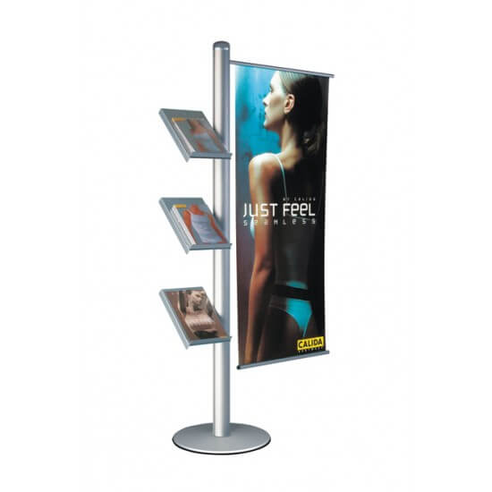 Brochure and Banner Display Stand