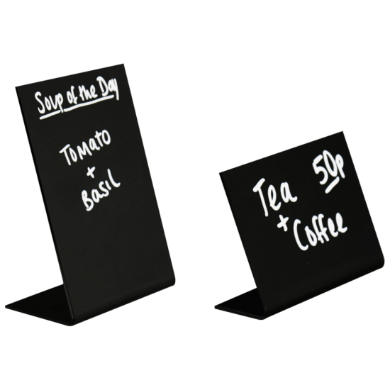 Freestanding lean back chalkboard sign in portrait or landscape