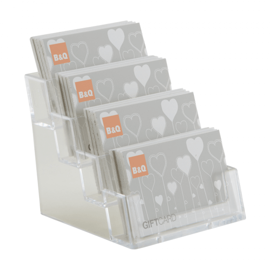 Four Tier Business Card Holder Counter Standing