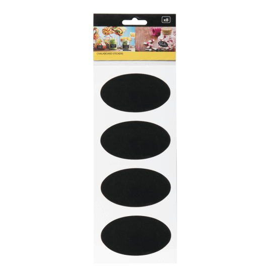 Chalkboard Self-Adhesive Stickers x8 oval