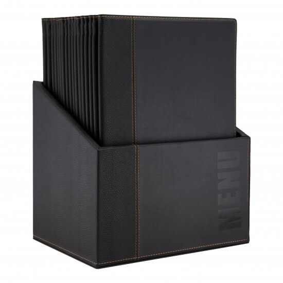 Faux Leather Restaurant Menu Covers A4 - Box of 20