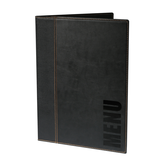 Contemporary Faux Leather Menu Cover