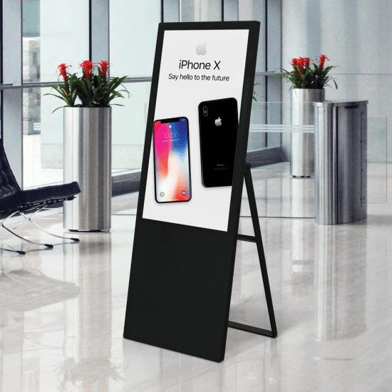 Digital advertising board in black