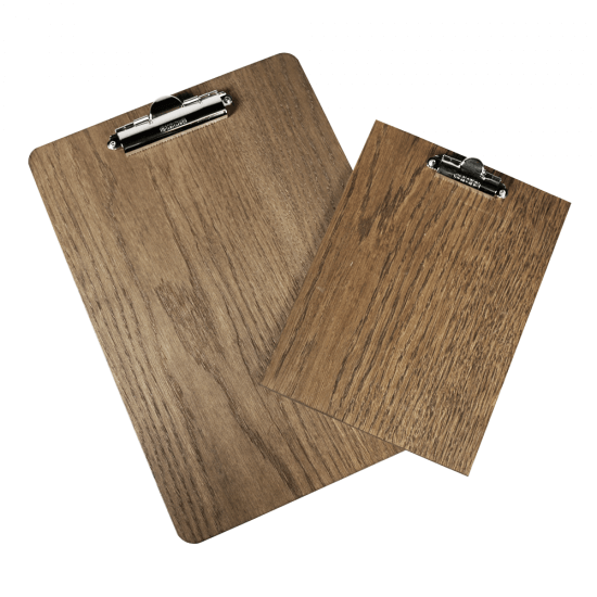 Wooden Menu Clipboard with Dark Oak finish A4 and A5