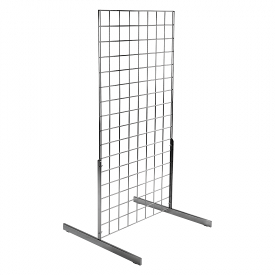 Double Sided Gridwall Display Kit in Chrome