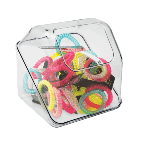 Use plastic dump bins to encourage impulse buys