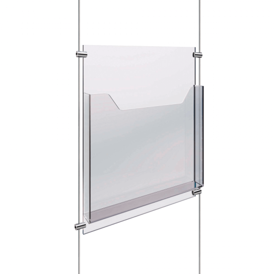 Cable and Rod Display Leaflet Holder
