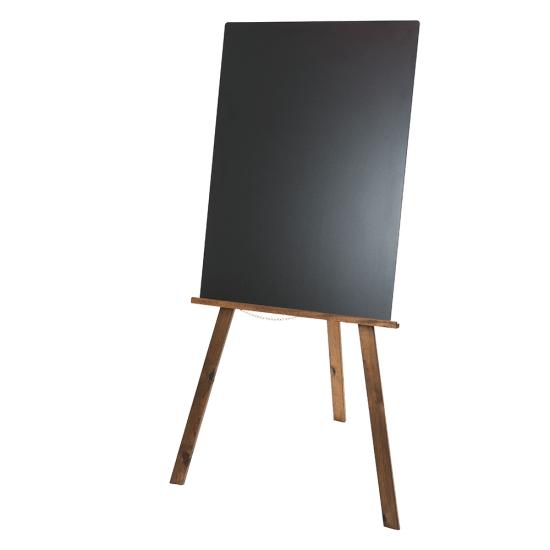 Dark Oak Easel with Plain Chalkboard