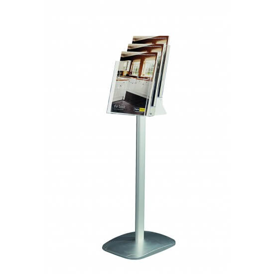 Freestanding Leaflet Dispenser with Tiers