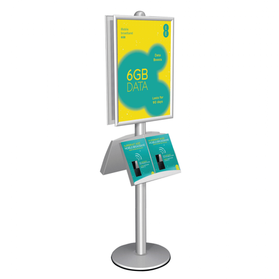 Free Standing Leaflet Poster Display