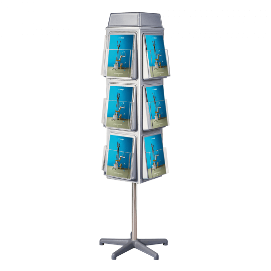 Revolving 4 Sided Leaflet Dispenser