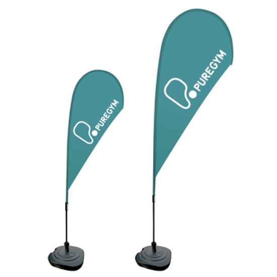Custom Tear Drop Banner Flags with Print