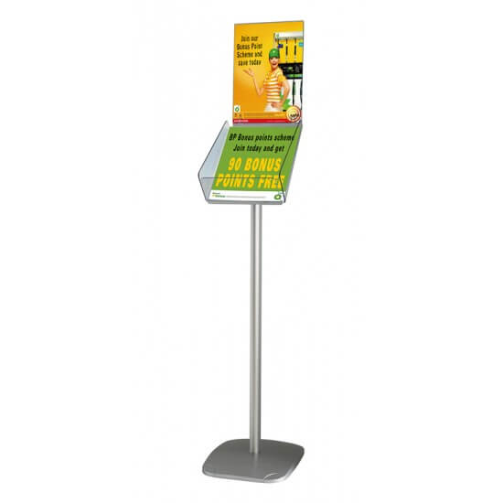Freestanding A4 Catalogue Holder Dispenser With Header