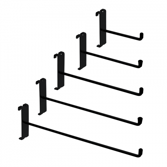 Black Single Prong Grid Mesh Hook is available in five sizes