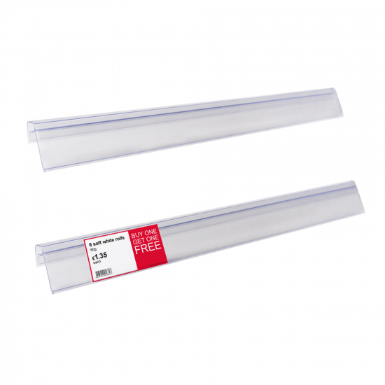 Data Strip for Glass and Wire Shelves