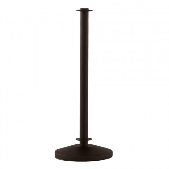 Black Cafe Barrier Pole and Base