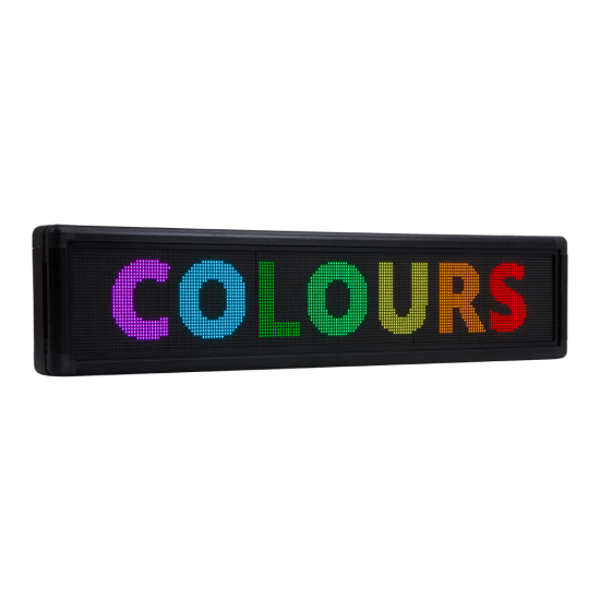 Multicolour LED scrolling sign (3 sizes of electronic signage available)