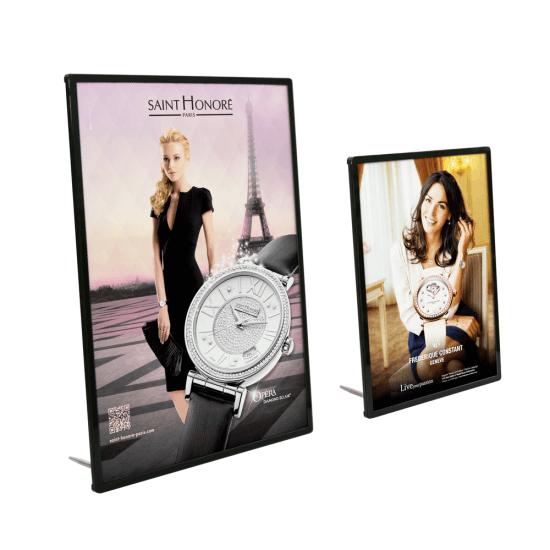 Super Slim LED Light Box in a portrait display