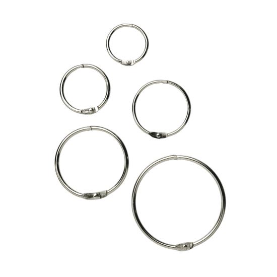 Metal Snap Rings x 100 - binding rings for your POS