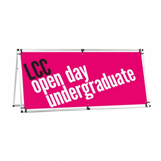 Outdoor A Banner with a horizontal banner design