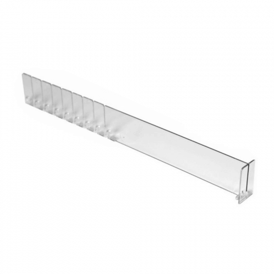 The Breakable T-Divider is a T shape shelf divider for retail