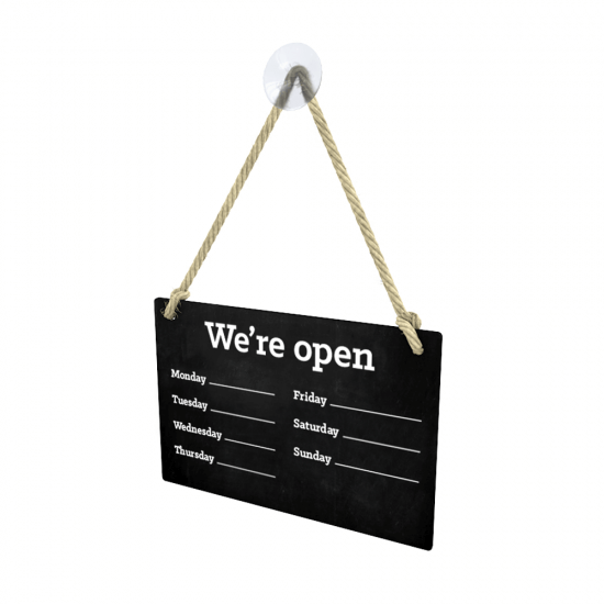 Chalkboard Open Sign front