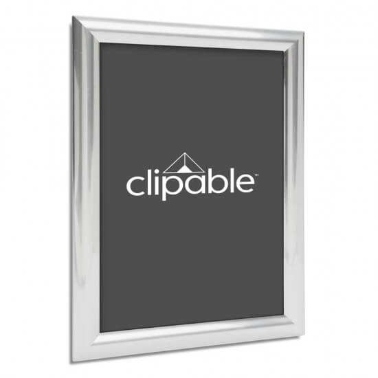 Metallic Chrome Snap Frame 25mm Frame