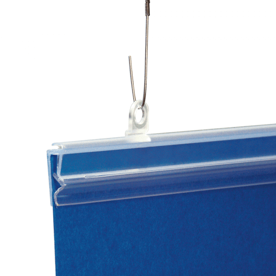 Poster Grippers x 10 (wire hooks and suspension clips supplied separately)