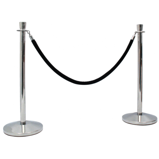 Pole And Rope Barrier System for queue management