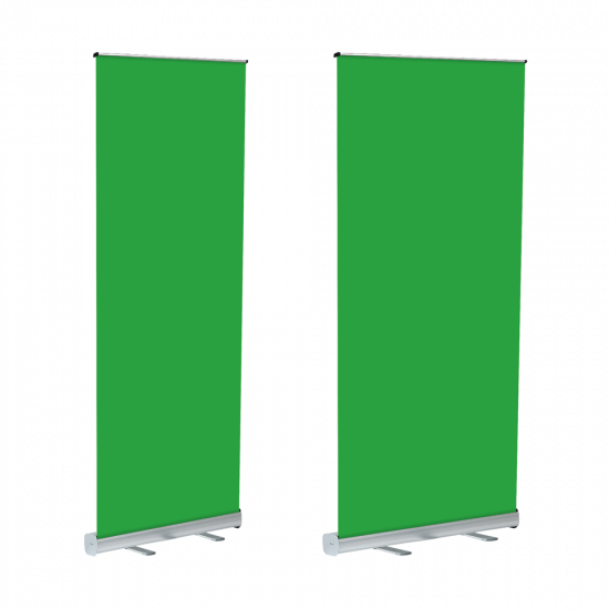 Our Portable Green Screen Stand is 2m tall and available in two widths