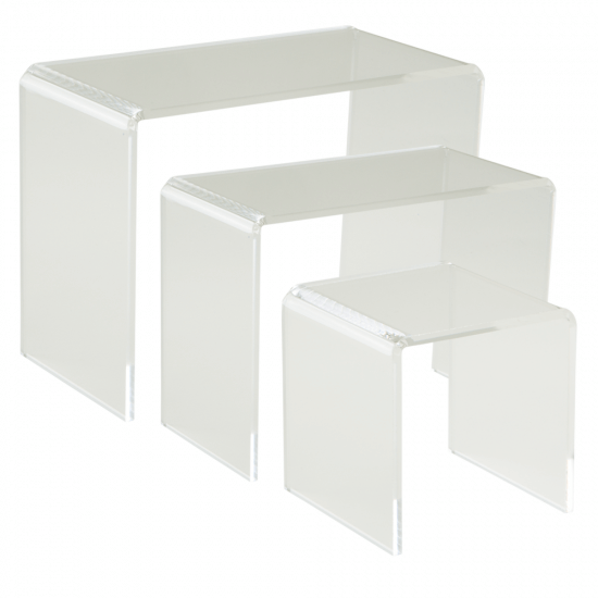 Clear Set of Three Premium Display Bridges