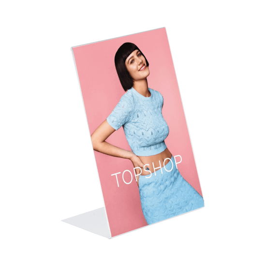 PVC Free Standing Poster Holder