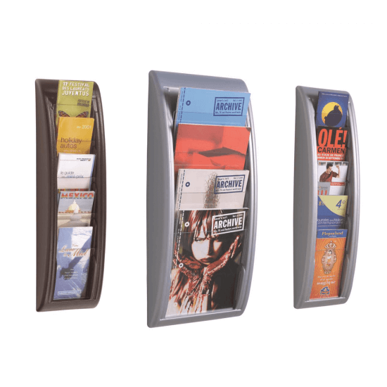 Premium Tiered Leaflet Holder Wall Mounted