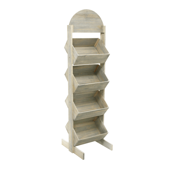 Wooden Crate Display Stand with wood finish