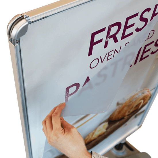 Replacement Water Base Pavement Sign Poster Cover