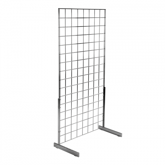 Freestanding Gridwall Display Kit in Chrome