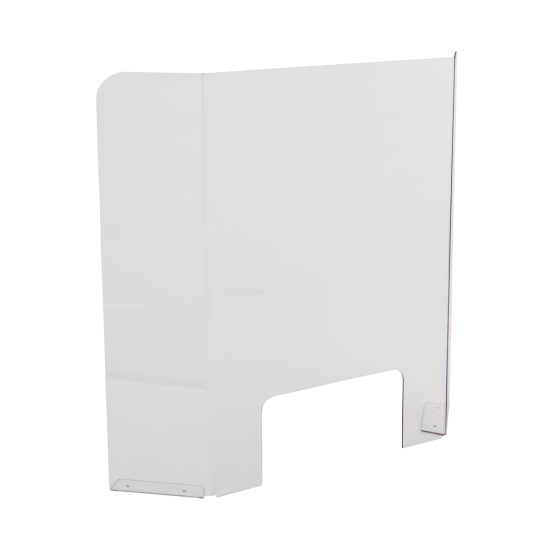 Counter Standing Angled Sneeze Guard