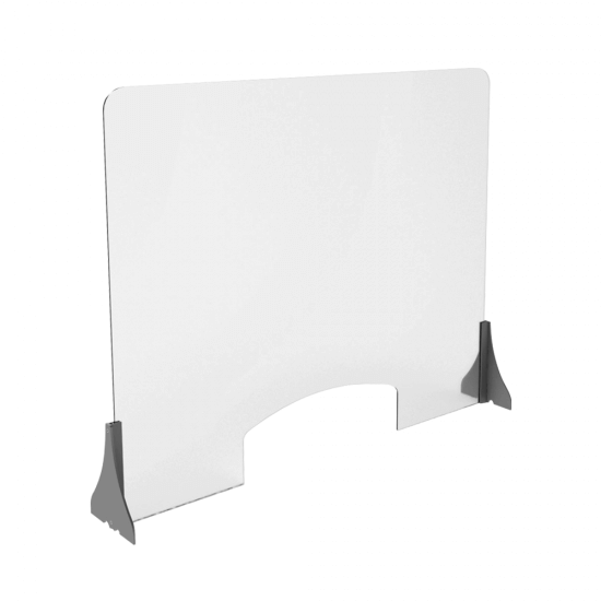 Premium Countertop Sneeze Guard with hatch cutout