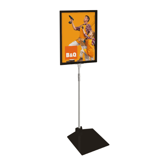 Outdoor poster stand in black
