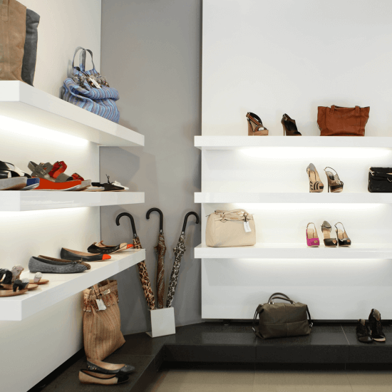 Use under shelf lighting for retail to highlight key products