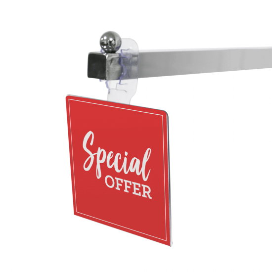 Flexible Clothes Rail Sign Holder