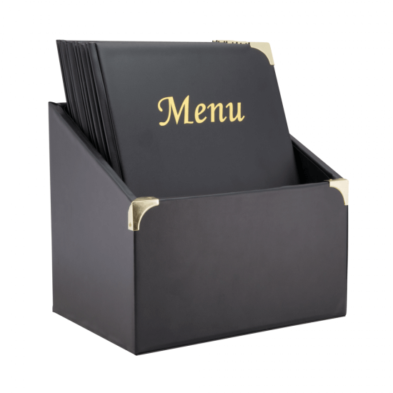 10 menu covers are supplied in a matching box